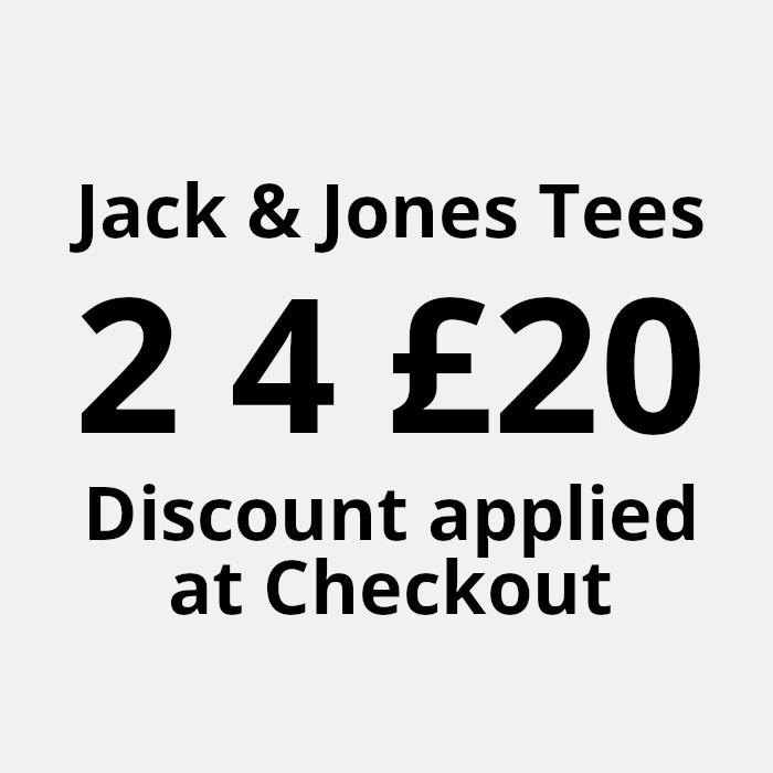 jack and jones mens tee 2 for 20 offer